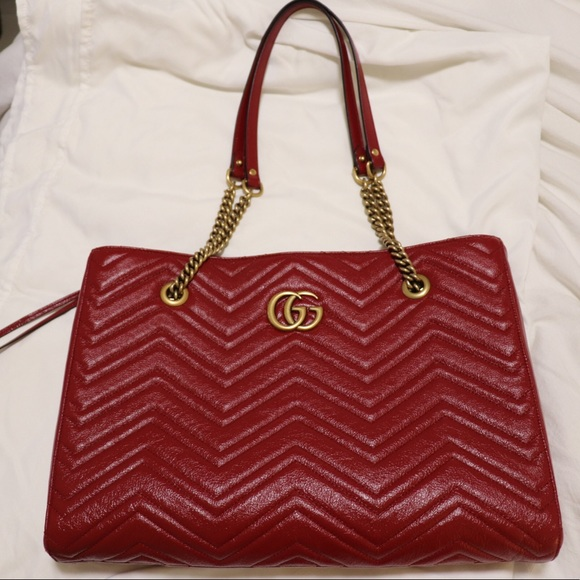 42652da9d15d20 Gucci Bags | Gg Marmont Medium Quilted Leather Tote Bag | Poshmark